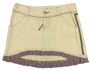 Free People Mini Skirt Green
