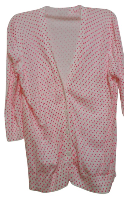 Preload https://item4.tradesy.com/images/gap-white-with-bright-orangeish-pink-polka-dots-cardigan-size-12-l-4398493-0-0.jpg?width=400&height=650