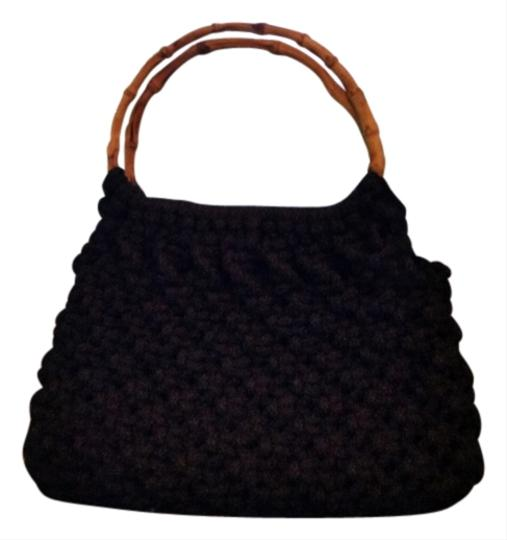 Other Bamboo Crochet Satchel in Black