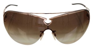 Roberto Cavalli Roberto Cavalli Sunglasses Brown Gradient Lens Shield Gold Hardware W/Case