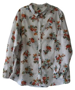 Old Navy Floral Button Down Shirt Floral Print