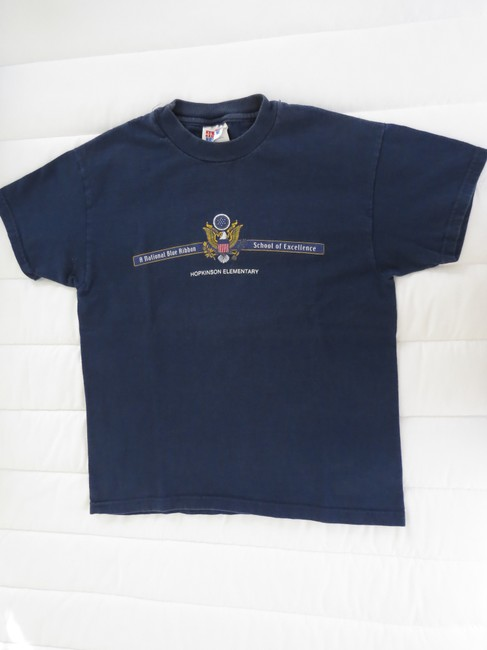 Other Vintage Graphic Logo Cotton T Shirt Navy