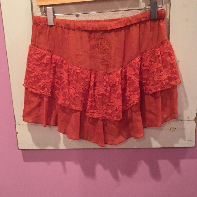 Vero Moda Mini Skirt Burnt orange