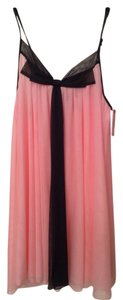 Betsey Johnson Night Gown Lingere Top Pink with black trimming