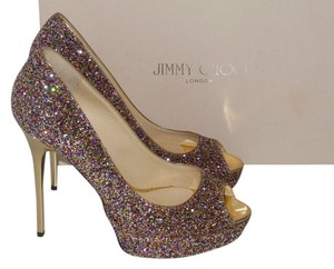 Jimmy Choo Multicolor Crown Pumps