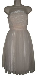 Laila Azhar Anthropologie Light Blush Princess Chiffon Size 6 Dress