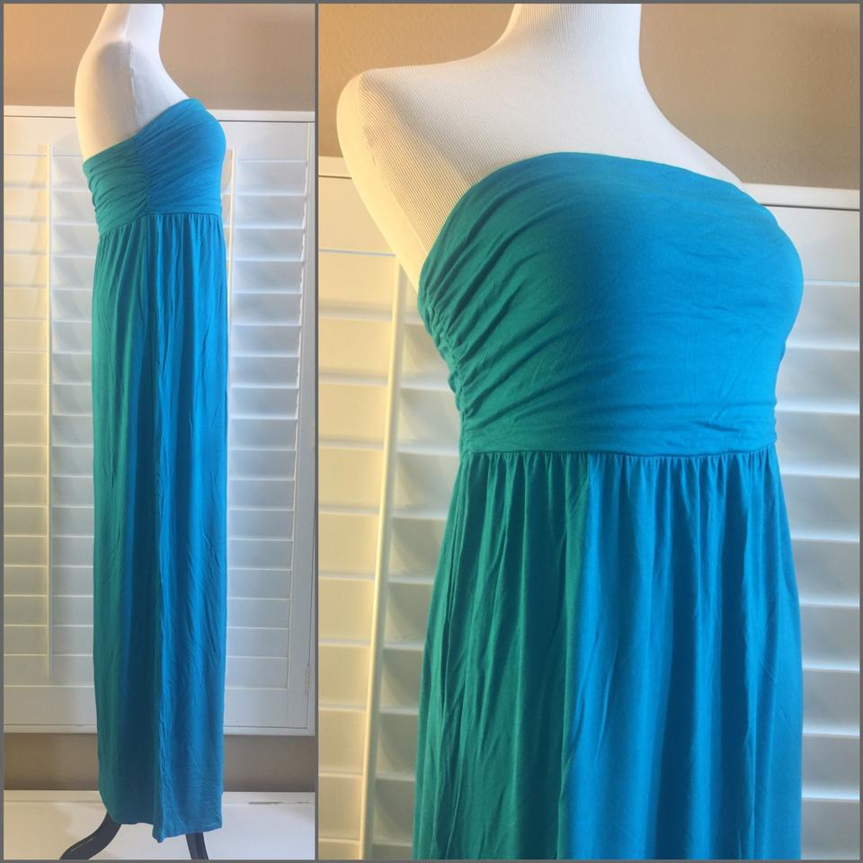 Old Navy Teal Strapless Long Casual Maxi Dress Size 8 (M) - Tradesy