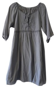 Old Navy short dress Gray Embroidered Peasant on Tradesy