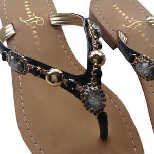 Ivanka Trump Jeweled black Sandals