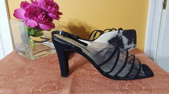 Caparros Ankle Strap Wedding Sturdy Classic Black Sequin Formal