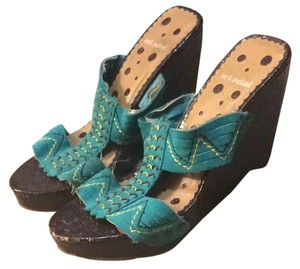 Not Rated Teal Wedges