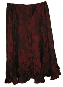 Midi Skirt Red and Black