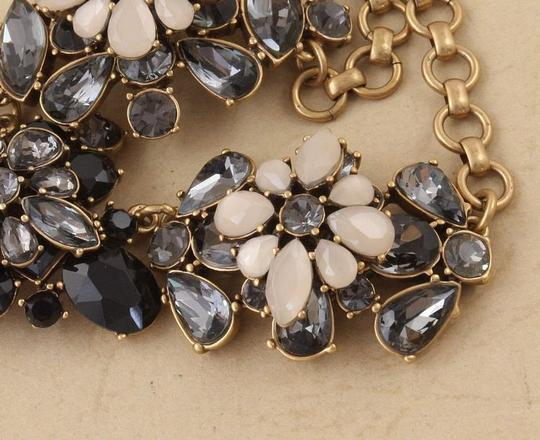 J.Crew NEW J. Crew Statement Necklace Charcoal Gray and Frosted Epoxy Stones