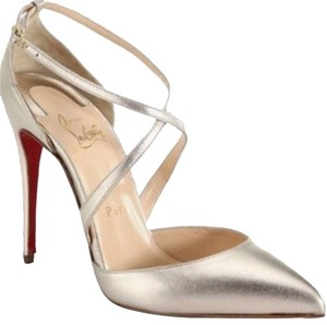 Christian Louboutin Light Gold Leather Pumps