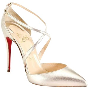 Christian Louboutin Maltaise 100mm D'orsay Platinum Pumps