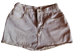 Designer Cotton Mini Skirt Pinstripe