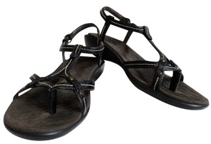 Clarks Sporty Leather Comfortable Black Sandals