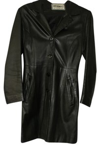 brando black Leather Jacket