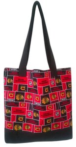 Handmade Tote in Black / Red