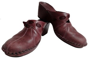 Clarks Clog Leather Comfortable Brown Mules