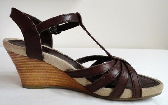 Bass Sandal Leather Chocolate Wedges