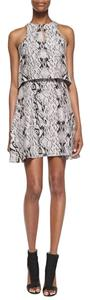 Parker short dress Gray/Snakeskin print on Tradesy