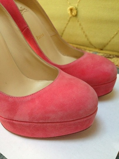 Christian Louboutin So Kate Pigalle Bianca Patent Kid Pink Pumps