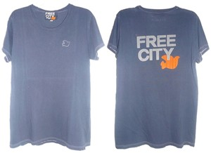 FREECITY Celebrity T Shirt Navy Blue