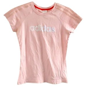 adidas Cotton Embellished T Shirt pink