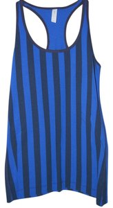 Gap Gapfit Blue and Black Striped Racerback Tank Top NWT $24.95 L