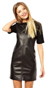 ASOS short dress black Leather Faux Patent on Tradesy