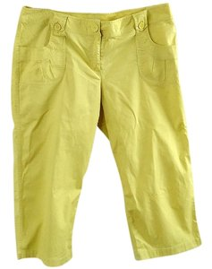 Liz Claiborne Cotton Embellished Capris yellow