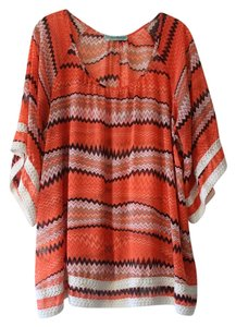 Pleione Sheer Chevron Print Top
