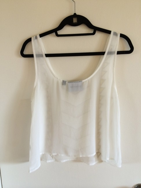 MINKPINK Embroidered Sheer Top White