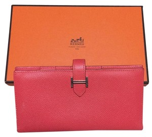 Hermès Hermes Wallet Bearn in Rose Jaipur