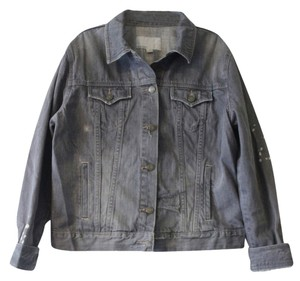 Old Navy Distressed Gray Womens Jean Jacket