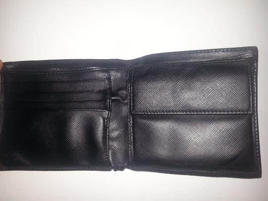 Prada PRADA black color Saffiano leather bifold wallet