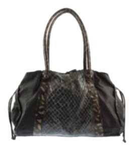 Carlos Falchi Tote in Black Animal Print