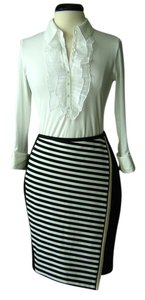 White House | Black Market Ponte Striped Pencil Skirt