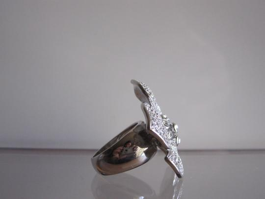 Banana Republic Pave Crystal Flower Cocktail Ring