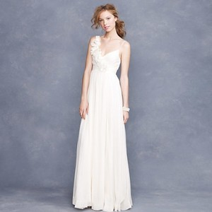 JCrew Ivory Chiffon Dune Feminine Wedding Dress Size 4 S