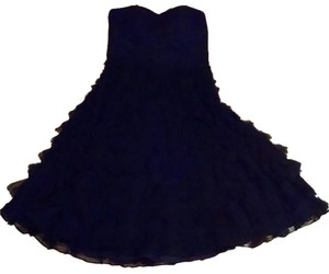 White House | Black Market Silk Size 6 Layered Skirt Below Knee Mid Length Sleeveless P1522 Dress