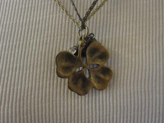 Betsey Johnson Betsey Johnson Clover Necklace with crystal charm