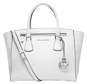 Michael Kors Optic Cross Strap Satchel in White