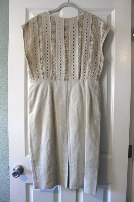 Other short dress Beige Vintage Crochet Cut-out on Tradesy