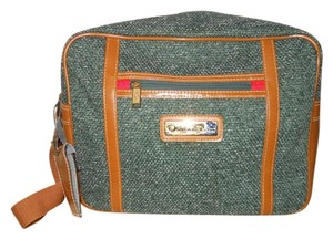 Oscar de la Renta Vintage green & tan Travel Bag