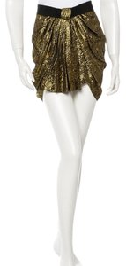 Isabel Marant Mini Fancy Mini Skirt Black and gold