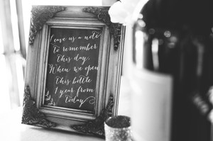 Wedding Sign- Wine Bottle Guest Book