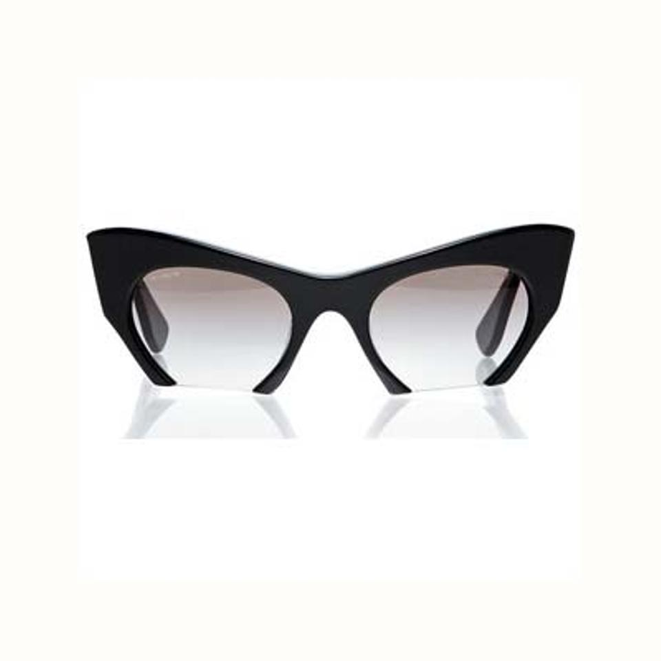 9902a3c29b56 Miu Miu Black Rasoir Cuff Off Cat Eye Sunglasses - Tradesy