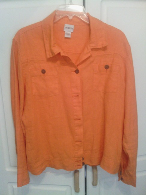 Preload https://item5.tradesy.com/images/chico-s-orange-none-spring-jacket-size-12-l-4405429-0-0.jpg?width=400&height=650